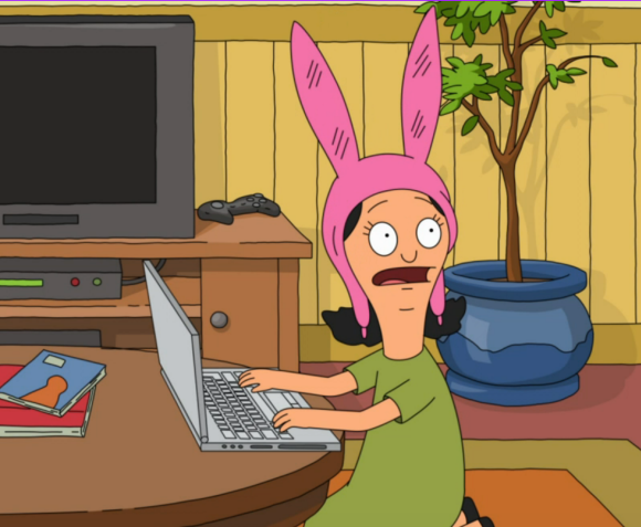 Louise Belcher (voice by Kristen Schaal).