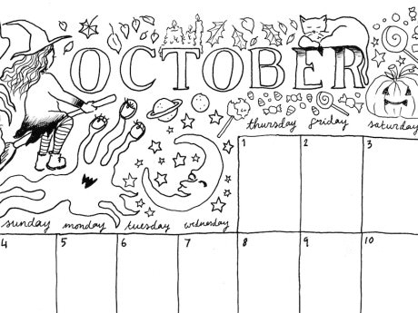 Saturday Printable: An October Calendar