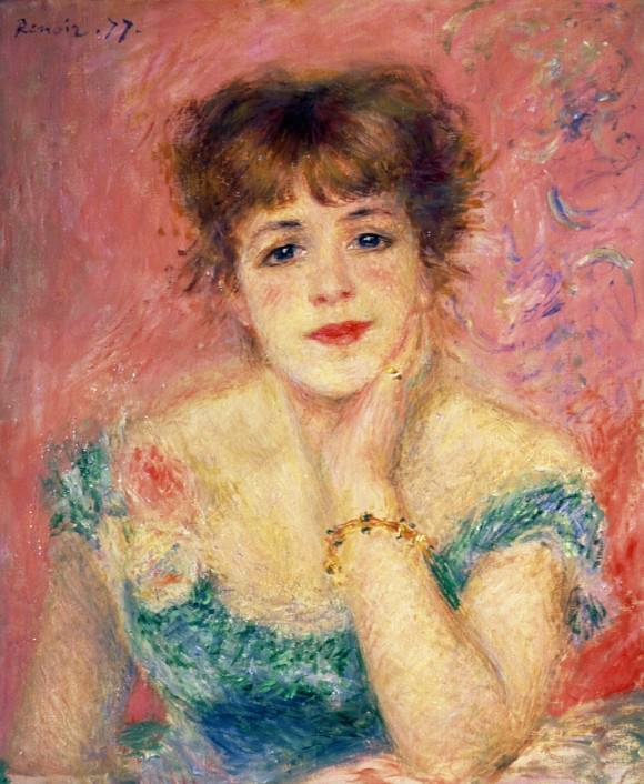 Portrait of the Actress Jeanne Samary (1877), Pierre-Auguste Renoir.