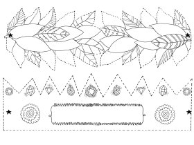 Saturday Printable: Crown and Laurels