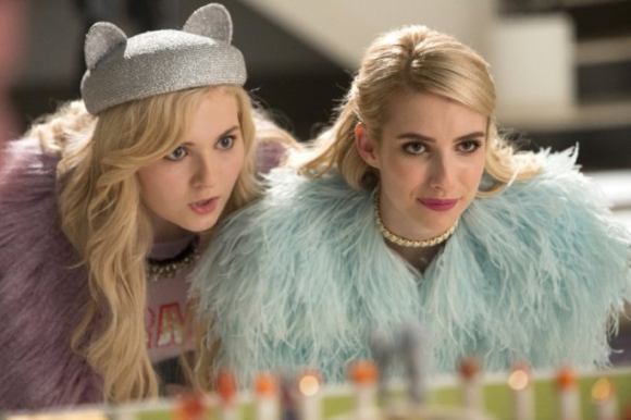 Emma Roberts as Chanel Oberlin and Abigail Breslin as Chanel No. 5.