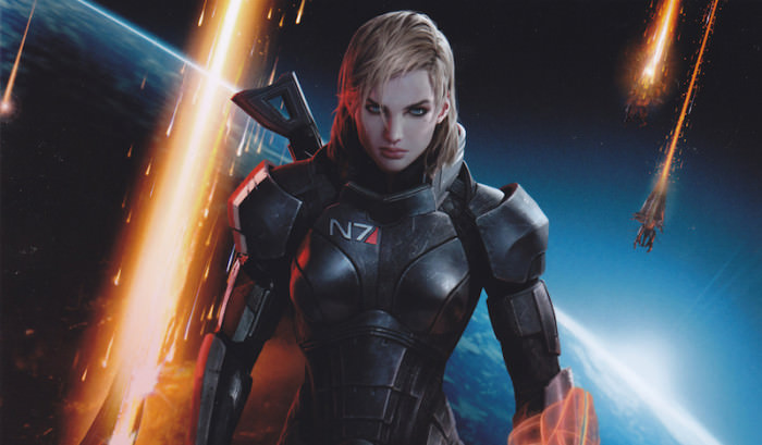 Commander Shepard, in Mass Effect 3.