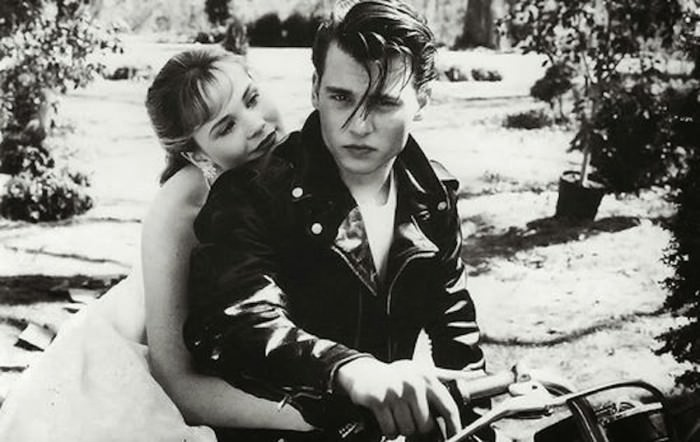 Amy Locane as Allison Vernon-Williams and Johnny Depp as Cry-Baby in Cry-Baby.