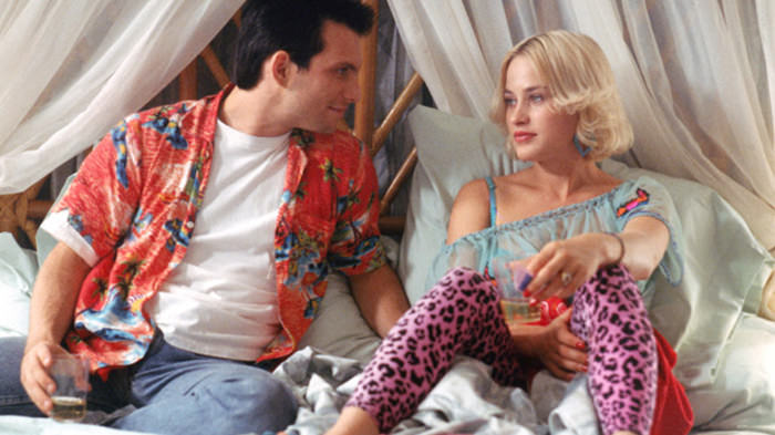 Christian Slater as Clarence and Patricia Arquette as Alabama in True Romance.