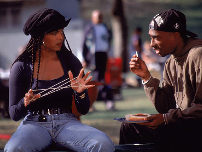 Janet Jackson as Justice and Tupac Shakur as Lucky in Poetic Justice.