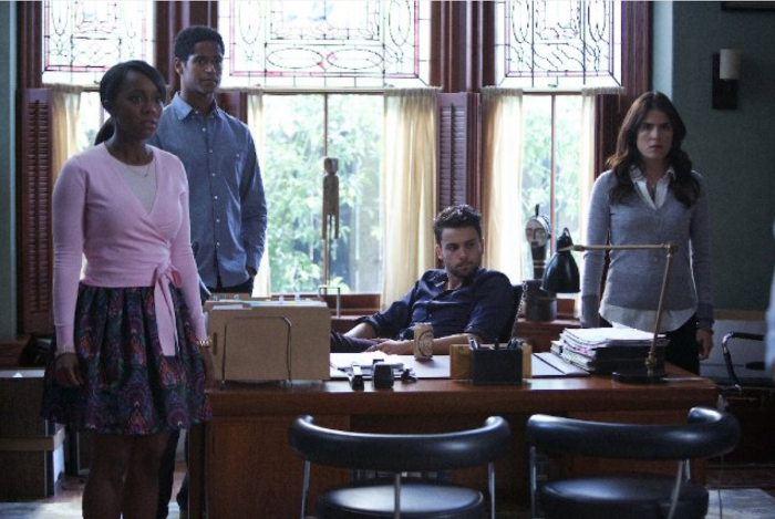 Aja Naomi King as Michaela Pratt, Alfred Enoch as Wes Gibbins,  Jack Falahee as Connor Walsh, and  Karla Souza as Laurel Castillo.