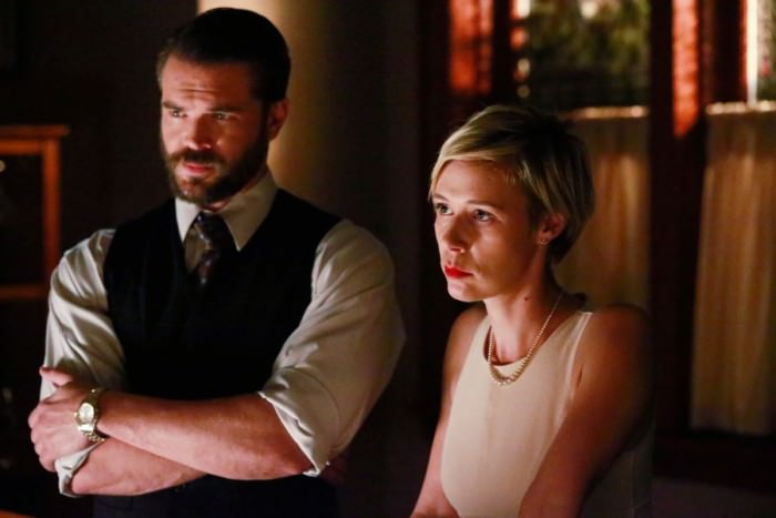 Charlie Weber as Frank Delfino and  Liza Weil 	as Bonnie Winterbottom.