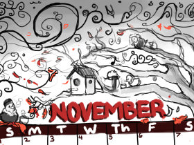 Sunday Printable: A November Calendar