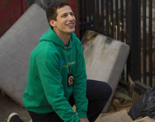 Andy Samberg  as Jake Peralta.