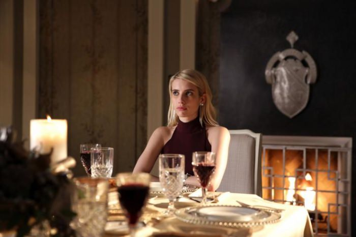 Emma Roberts as Chanel Oberlin on Scream Queens.