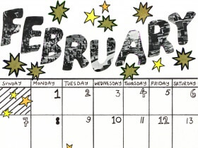 Saturday Printable: A February Calendar