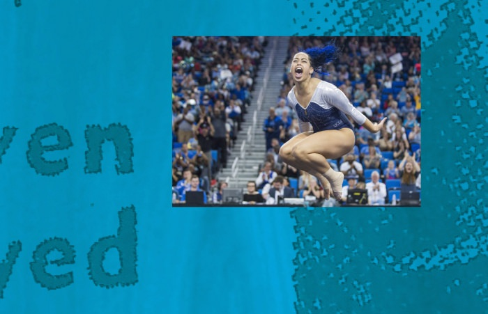 Collage by Ruby Aitken, using a photo by Angie Wang/Daily Bruin.