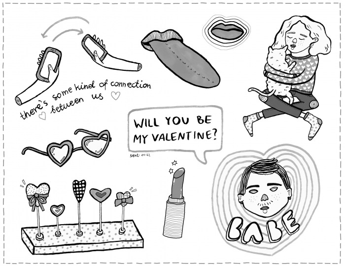 v-day coloring page 2