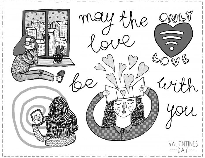 v-day coloring page 1