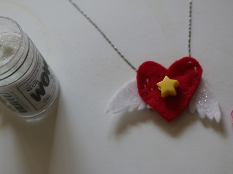 DIY Flying Heart Necklace
