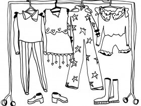 Saturday Printable: Pop-Up Dressing Room