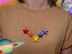 How to Make a Falling Star Necklace