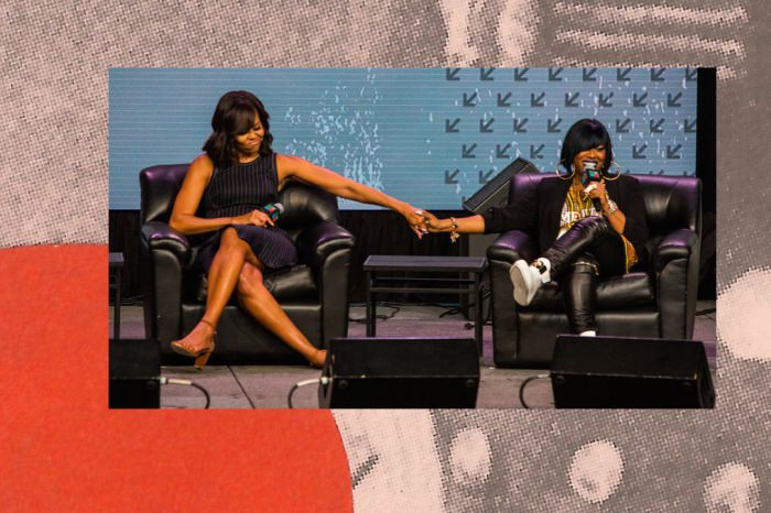 Michelle Obama and Missy Elliott at SXSW, via NPR.