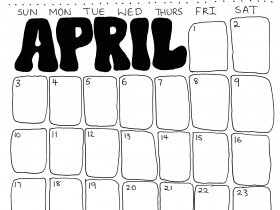 Saturday Printable: An April Calendar