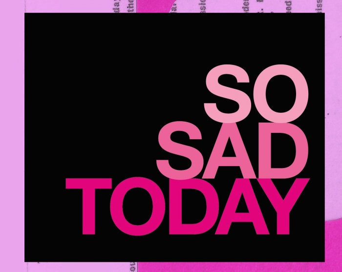 Collage by Ruby Aitken, using the cover of Melissa Broder's So Sad Today.