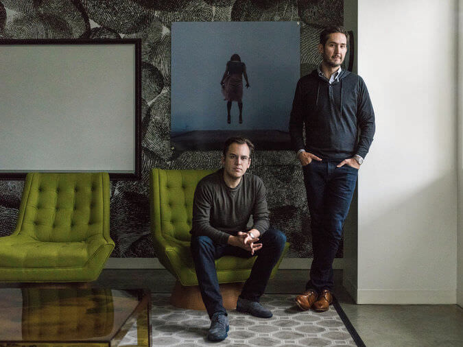 Mike Krieger and Kevin Systrom, Instagram's co-founders. Photo via The New York Times.