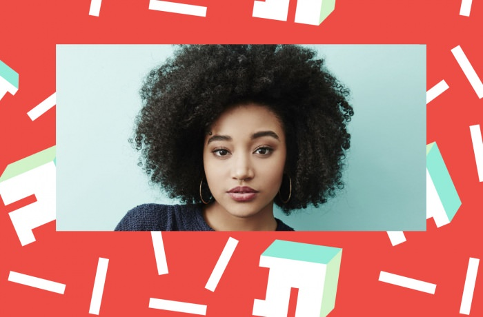 Collage by Ruby Aitken, using a photo of Amandla Stenberg via Elle.
