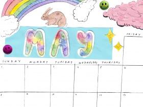 Saturday Printable: A May Calendar