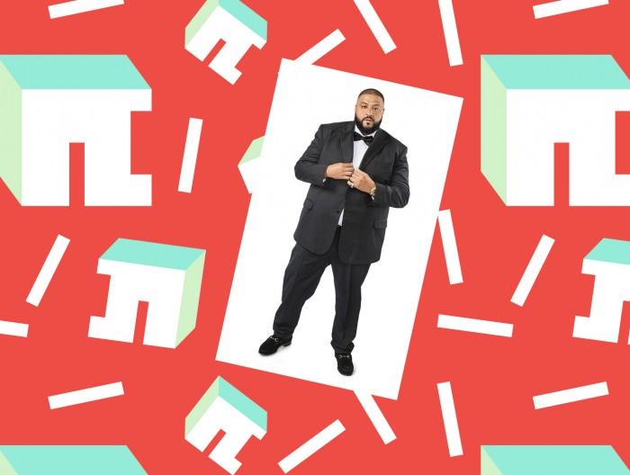 Collage by Ruby Aitken, using a photo of DJ Khaled via The New York Times.