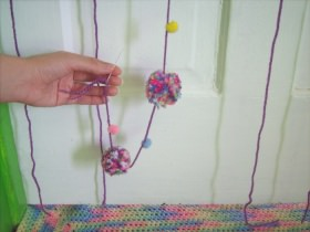 How to Make a Pom-Pom Curtain