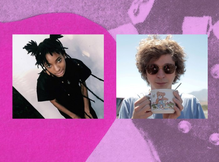 Collage by Ruby Aitken, using photos of Willow Smith and Michael Cera via Dazed.