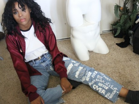 DIY Yearbook Jeans