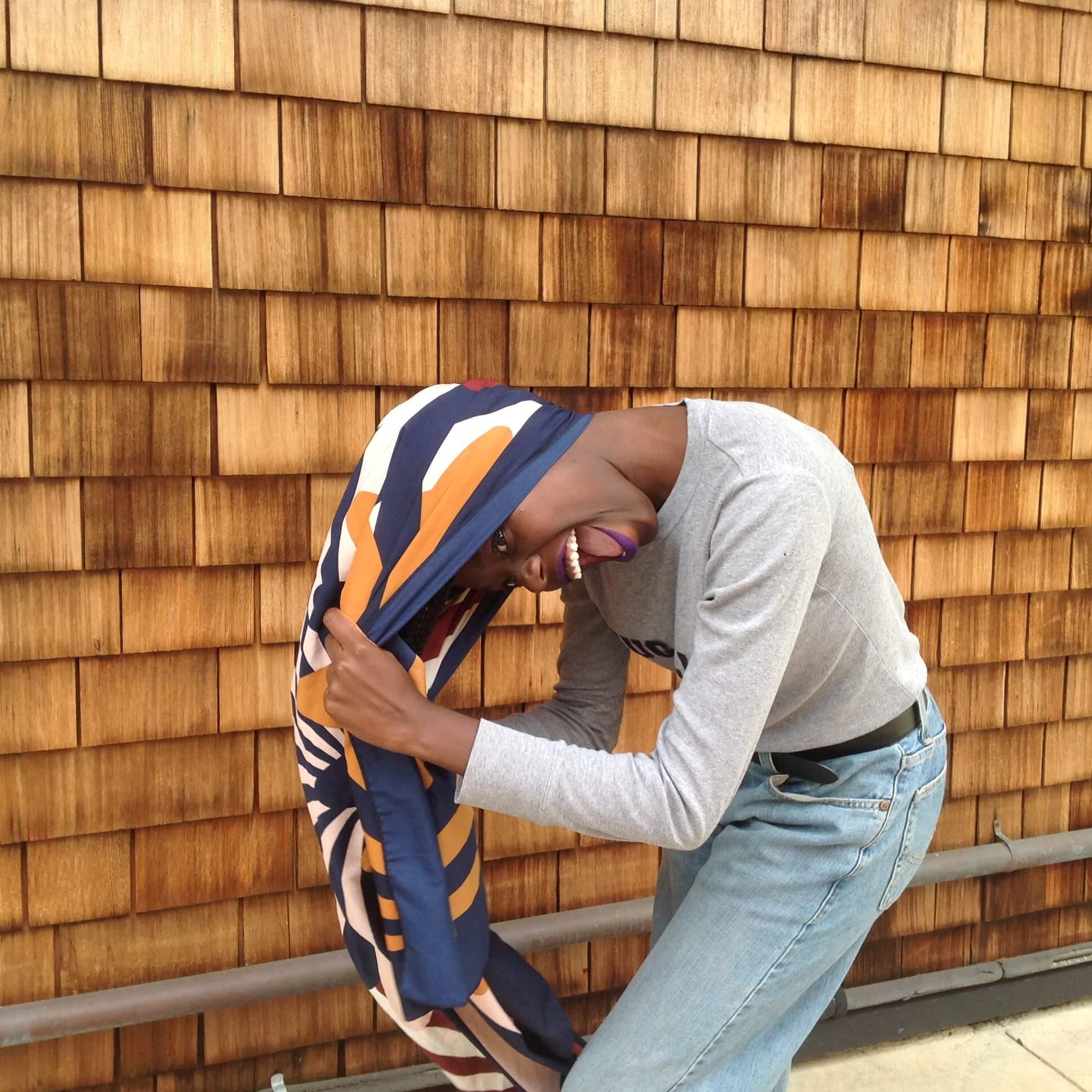 Ugochi getting the wrap on