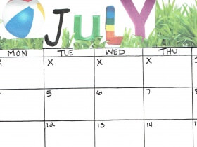 Saturday Printable: A July Calendar
