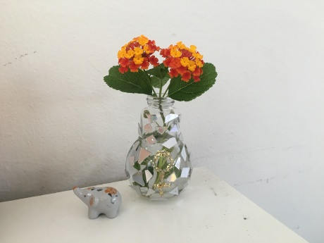 DIY Mirrored Lightbulb Vase