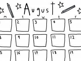 Saturday Printable: An August Calendar