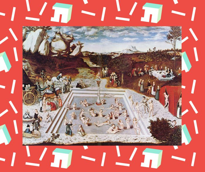 "Collage by Ruby Aitken, using ""The Fountain Of Youth"" by Lucas Cranach the Elder."
