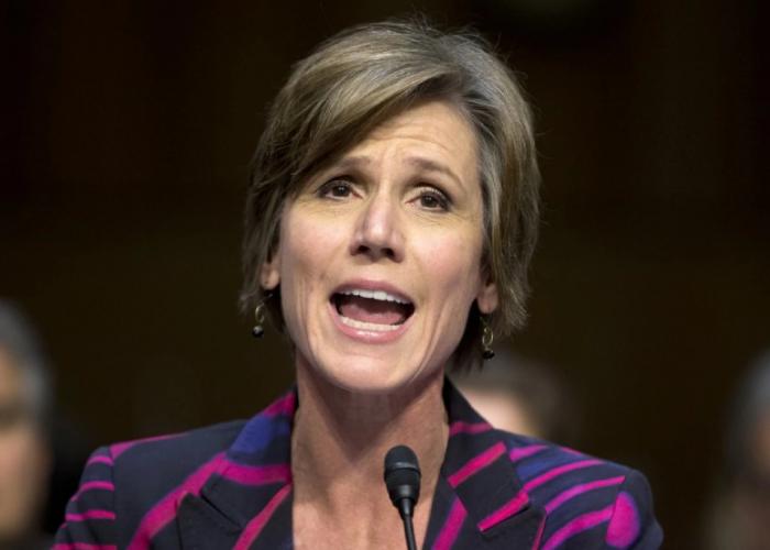 Photo of Deputy Attorney General Sally Yates via The Washington Post.