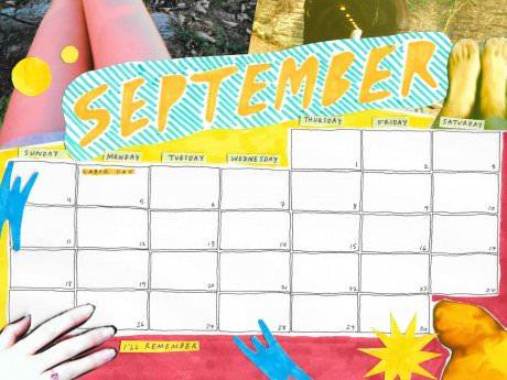 Saturday Printable: A September Calendar