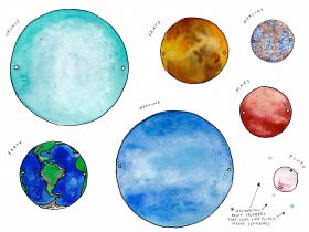 Saturday Printable: Planets Banner
