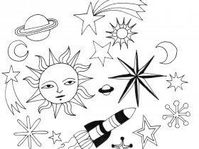 Saturday Printable: Galaxy Stickers