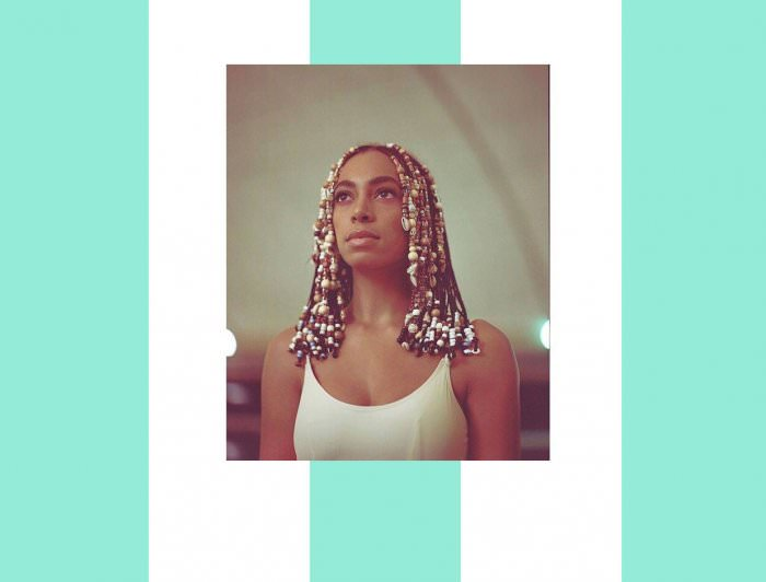 Collage by Ruby Aitken, using a photo of Solange via Facebook.