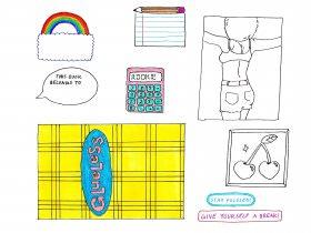 Saturday Printable: School Supply Stickers