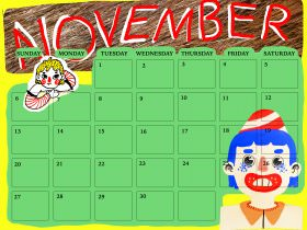 Saturday Printable: A November Calendar