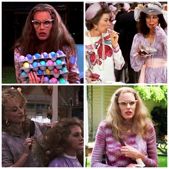 Looks from Steel Magnolias.