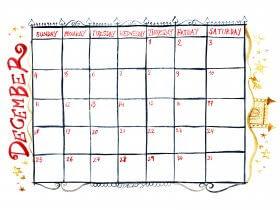 Saturday Printable: A December Calendar