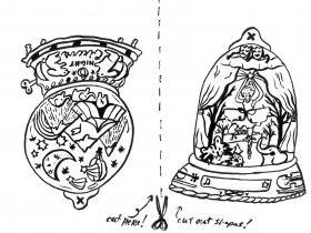 Saturday Printable: Snow Globe Ornaments