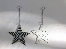 DIY Star Earrings