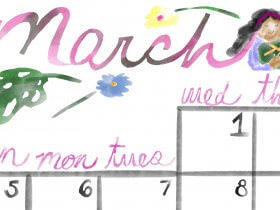 Saturday Printable: A March Calendar