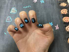 DIY Chalkboard Manicure