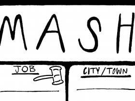 Printable MASH Game